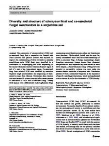 Diversity and structure of ectomycorrhizal and co ... - Springer Link