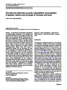 Diversity and uniformity in genetic responsibility: moral ... - Springer Link