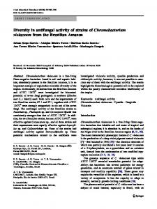 Diversity in antifungal activity of strains of ... - Springer Link