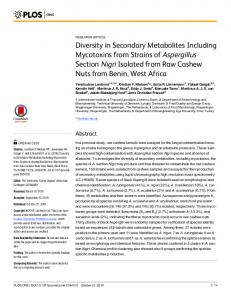 Diversity in Secondary Metabolites Including