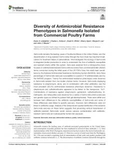 Diversity of Antimicrobial Resistance Phenotypes ... - Semantic Scholar