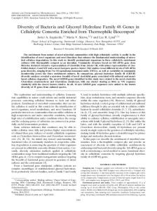 Diversity of Bacteria and Glycosyl Hydrolase Family 48 Genes in ...