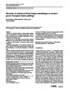 Diversity of ectomycorrhizal fungus assemblages on ... - Springer Link