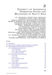 Diversity of Indigenous Fermented Foods and ...