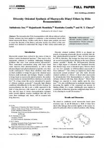 Diversity Oriented Synthesis of Macrocyclic Diaryl
