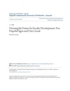 Divining the Future for Faculty Development - DigitalCommons ...