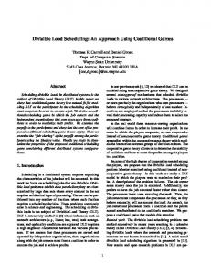 Divisible Load Scheduling: An Approach Using ... - CiteSeerX