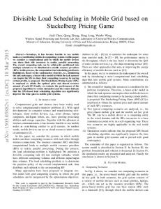 Divisible Load Scheduling in Mobile Grid based on ... - Semantic Scholar
