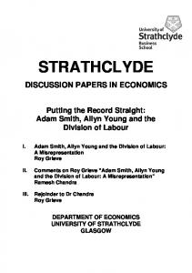 division of labour - University of Strathclyde