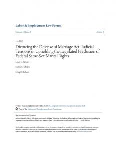 Divorcing the Defense of Marriage Act - Digital Commons @ American ...