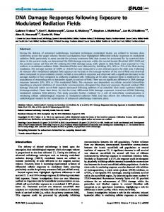 DNA Damage Responses following Exposure to Modulated ... - PLOS