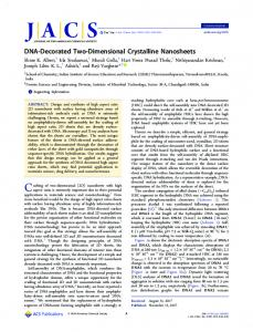 DNA-Decorated Two-Dimensional Crystalline ... - ACS Publications
