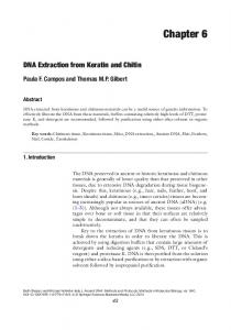 DNA Extraction from Keratin and Chitin (PDF Download Available)