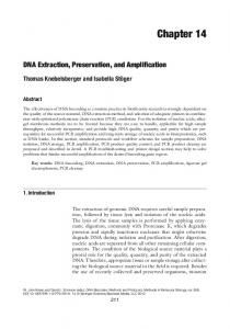 DNA Extraction, Preservation, and Amplification