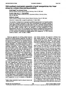 DNA-mediated electrostatic assembly of gold nanoparticles into linear ...
