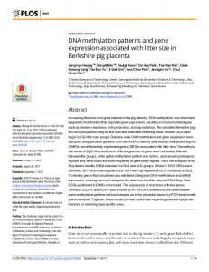 DNA methylation patterns and gene expression associated ... - PLOS