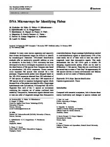 DNA Microarrays for Identifying Fishes - Springer Link