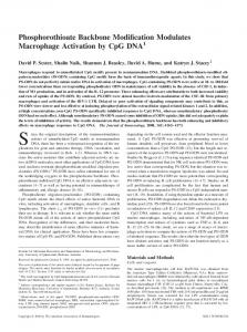 DNA Modulates Macrophage Activation by CpG Phosphorothioate ...