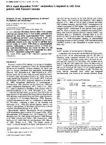 DNA repair dependent NAD+ metabolism is impaired in cells from ...