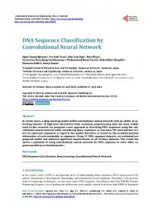 DNA Sequence Classification by Convolutional Neural Network