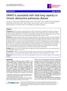 DNAH5 is associated with total lung capacity in chronic obstructive ...