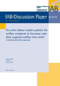 Do active labour market policies for wel-fare recipients in ... - iab