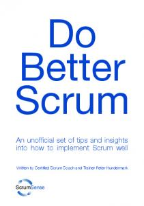 Do Better Scrum - Scrum Sense