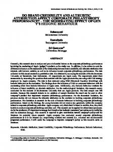 do brand credibility and altruistic attribution affect corporate ... - IJBS