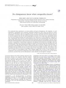 Do chimpanzees know what conspecifics know? - Max Planck Institute ...