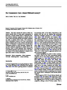 Do Consumers Care About Ethical-Luxury? - Springer Link