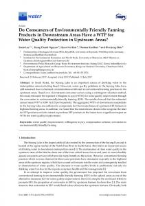 Do Consumers of Environmentally Friendly Farming Products ... - MDPI