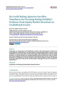 Do Credit Rating Agencies Sacrifice Timeliness by Pursuing Rating ...