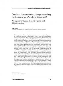 Do data characteristics change according to the number of ... - CiteSeerX