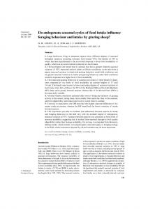 Do endogenous seasonal cycles of food intake influence ... - BES journal