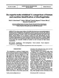 Do experts make mistakes? A comparison of human and machine ...