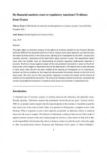Do financial markets react to regulatory sanctions? - (SSRN) Papers
