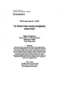 Do fiscal rules cause budgetary outcomes?
