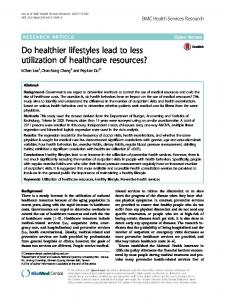 Do healthier lifestyles lead to less utilization of healthcare resources?