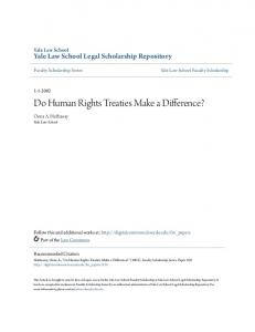 Do Human Rights Treaties Make a Difference? - Yale Law School ...