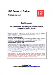 Do international human rights treaties improve respect for human rights?