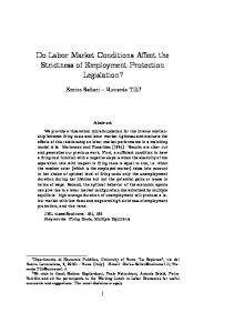 Do Labor Market Conditions Affect the Strictness of ... - Core