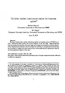 Do labor market institutions matter for business cycles? - Bad Request