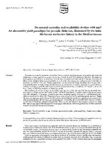 Do natural mortality and availability decline with age? An alternative ...