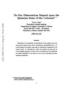 Do Our Observations Depend upon the Quantum State of the Universe?