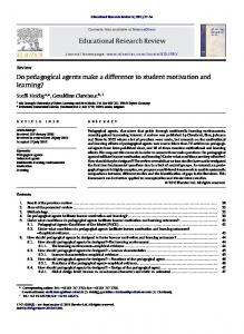 Do pedagogical agents make a difference to student motivation and ...