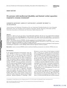 Do persons with intellectual disability and limited ...