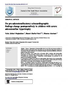Do pre-adenotonsillectomy echocardiographic findings change ... - Core