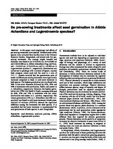 Do pre-sowing treatments affect seed germination in ... - Springer Link
