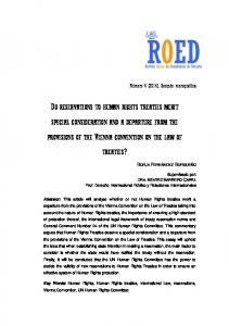 do reservations to human rights treaties merit special consideration ...