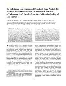Do Substance Use Norms and Perceived Drug Availability Mediate ...